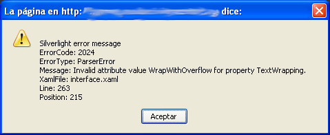 error with TextWrappingproperty
