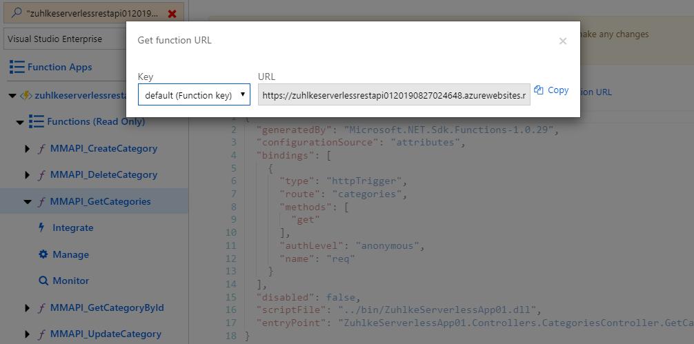 11 Get function URL